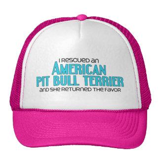 Rescaté un pitbull Terrier del americano (femenino Gorros Bordados