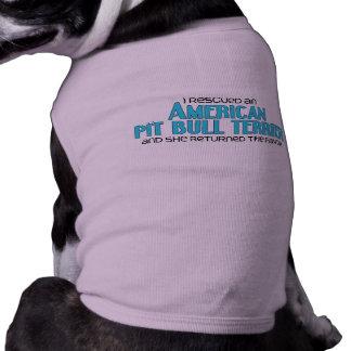 Rescaté un pitbull Terrier del americano (femenino Camiseta De Perro