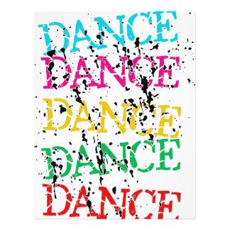 Resentimiento elegante colorido de la danza de la  folleto 21,6 x 28 cm