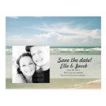 Reserva adaptable de la foto el boda de playa de l tarjeta postal