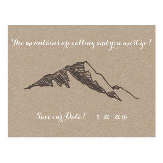 Reserva adaptable de la montaña la fecha postal
