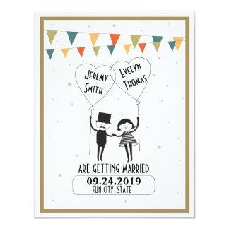 Reserva alternativa linda y divertida del boda la invitación 10,8 x 13,9 cm