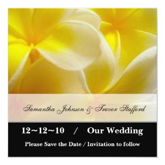 Reserva amarilla del verano la fecha invitación 13,3 cm x 13,3cm