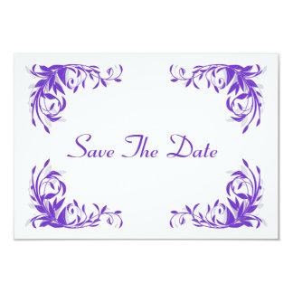 Reserva Amethyst del Flourish la tarjeta de fecha Invitación 8,9 X 12,7 Cm