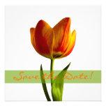 Reserva anaranjada del boda del tulipán la invitac