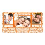 Reserva anaranjada del damasco de 3 de las fotos tarjeta fotografica personalizada
