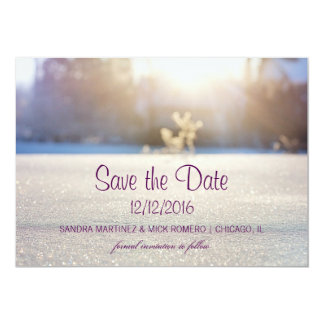 Reserva blanca elegante del boda del invierno la invitación 12,7 x 17,8 cm