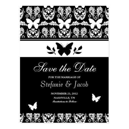 Reserva blanco y negro de la mariposa la postal de