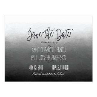 Reserva blanco y negro de Ombre la fecha Postal
