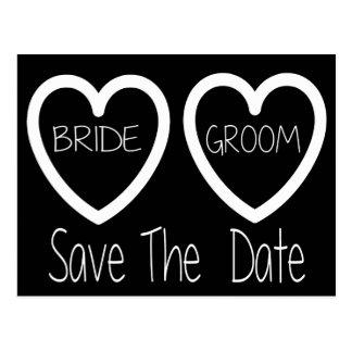 Reserva blanco y negro la postal del boda de la