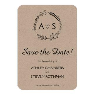 Reserva bothanical elegante rústica del boda la invitación 8,9 x 12,7 cm