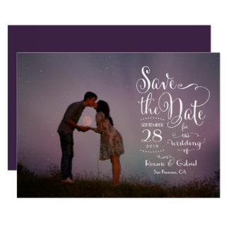 Reserva caprichosa de la foto de la escritura de invitación 12,7 x 17,8 cm