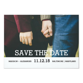 Reserva caprichosa de la moda la foto de la fecha invitación 12,7 x 17,8 cm
