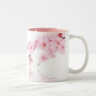 Reserva china del boda del flor rosado de la prima tazas