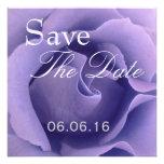 Reserva color de rosa PÚRPURA elegante del boda qu Invitacion Personalizada