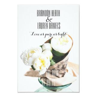 Reserva cristiana botánica del boda la fecha invitación 8,9 x 12,7 cm