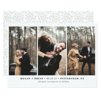 Reserva de 3 fotos la tarjeta de fecha invitación 12,7 x 17,8 cm