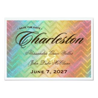 Reserva de CHARLESTON la fecha Invitación 8,9 X 12,7 Cm