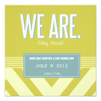 Reserva de Charleston la tarjeta de fecha: Polvo Invitación 13,3 Cm X 13,3cm