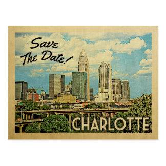 Reserva de Charlotte la fecha Carolina del Norte Postal