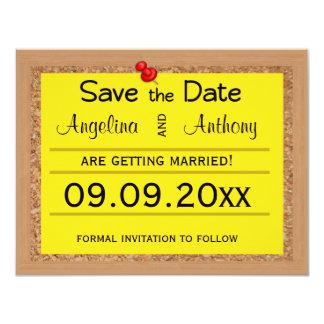 Reserva de Corkboard los recordatorios del boda de Invitación 10,8 X 13,9 Cm
