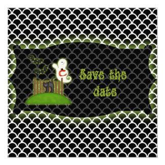 Reserva de Halloween que el fantasma de la fecha i Invitaciones Personalizada