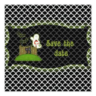 Reserva de Halloween que el fantasma de la fecha Invitaciones Personalizada