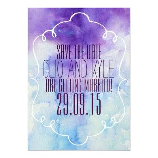 Reserva de la acuarela la fecha invitación 12,7 x 17,8 cm