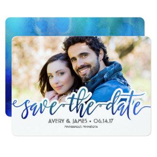 Reserva de la acuarela la tarjeta de la foto de la invitación 12,7 x 17,8 cm