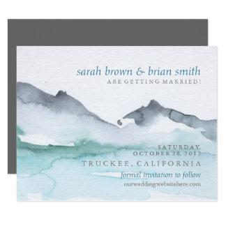 Reserva de la acuarela la tarjeta del lago invitación 10,8 x 13,9 cm