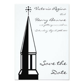 Reserva de la aguja de la iglesia la invitación de