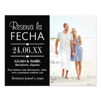 Reserva de la Boda la Tarjeta de Fecha Personalized Invitations