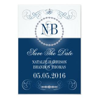 Reserva de la bodas de plata azul y las tarjetas invitación 8,9 x 12,7 cm