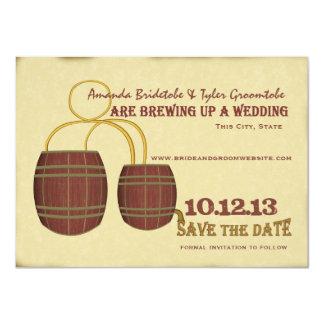 Reserva de la cervecería de la cerveza la fecha invitación 11,4 x 15,8 cm