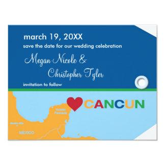 Reserva de la etiqueta del equipaje de Cancun la Anuncio Personalizado