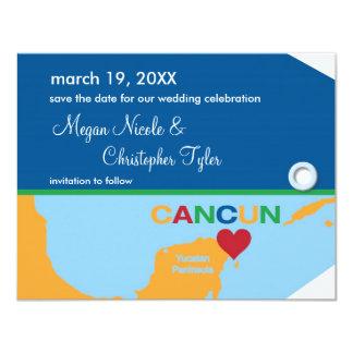 Reserva de la etiqueta del equipaje de Cancun la Invitación 10,8 X 13,9 Cm