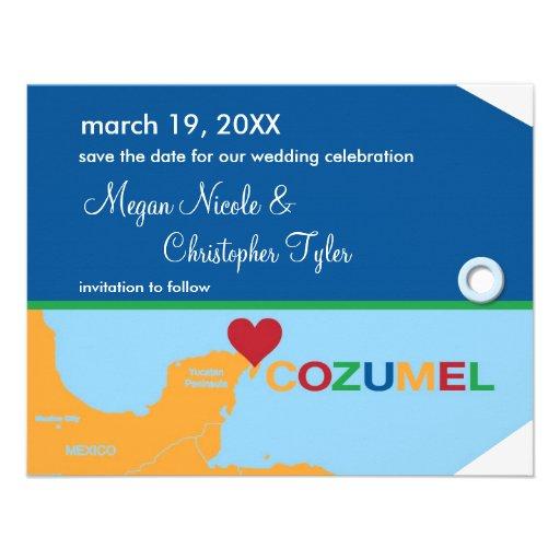 Reserva de la etiqueta del equipaje de Cozumel la  Comunicado Personalizado