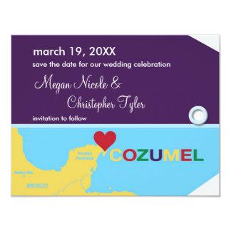 Reserva de la etiqueta del equipaje de Cozumel la Invitación 10,8 X 13,9 Cm