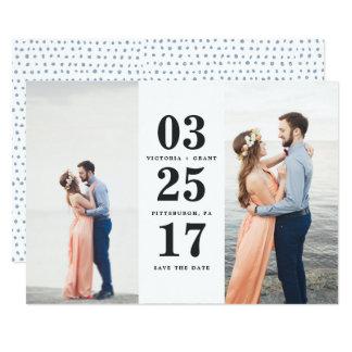 Reserva de la fecha del boda la tarjeta de fecha invitación 12,7 x 17,8 cm