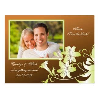 Reserva de la foto de la flor de trompeta la posta tarjeta postal