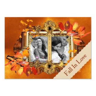 Reserva de la foto del otoño la fecha invitación 12,7 x 17,8 cm