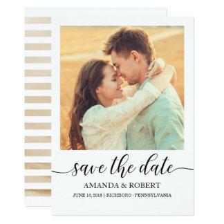 Reserva de la foto la tarjeta de fecha