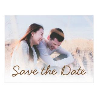 Reserva de la invitación de la foto del boda del