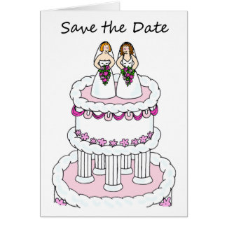 Reserva de la lesbiana la invitación de boda civil tarjeta de felicitación
