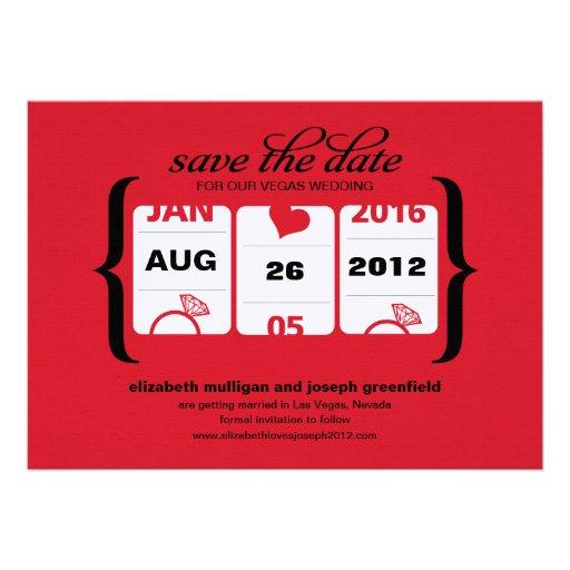 Reserva de la máquina tragaperras la fecha - boda invitacion personalizada