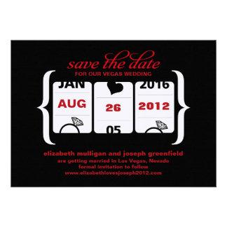 Reserva de la máquina tragaperras la fecha - boda invitaciones personalizada