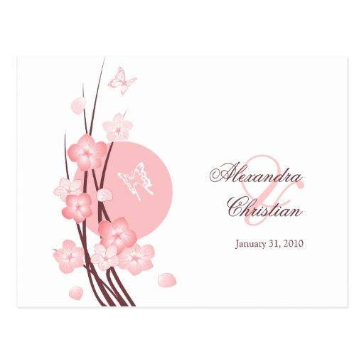 Reserva de la mariposa de las flores del rosa la i tarjeta postal ...