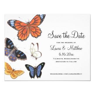 Reserva de la mariposa la fecha - ejemplo del invitación 10,8 x 13,9 cm