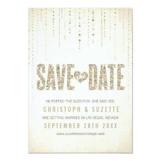 Reserva de la mirada del brillo la invitación de invitación 12,7 x 17,8 cm