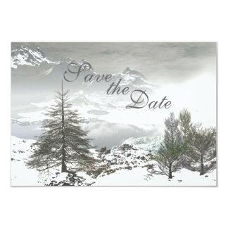 Reserva de la montaña del invierno la invitación